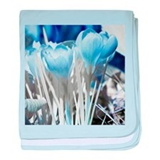 Crocus in infrared sunlight baby blanket