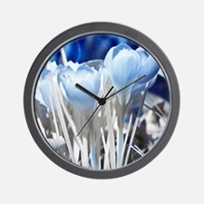 Crocus in infrared sunlight Wall Clock