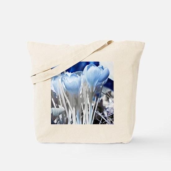 Crocus in infrared sunlight Tote Bag