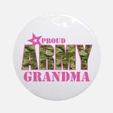 Camo Proud Army Grandma Ornament (Round)