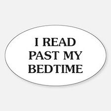 I Read Past Sticker (Oval)