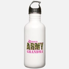 Camo Proud Army Grandm Water Bottle