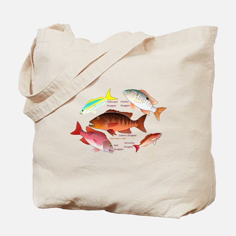 5 Snappers c Tote Bag