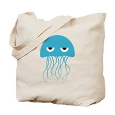 Angry Blue Jellyfish  Tote Bag