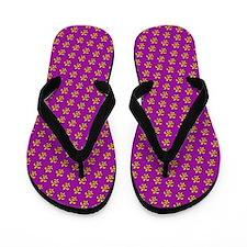 Fluer De Lis With Purple Flip Flops