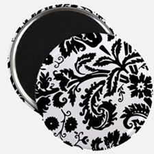 Black damask Magnets