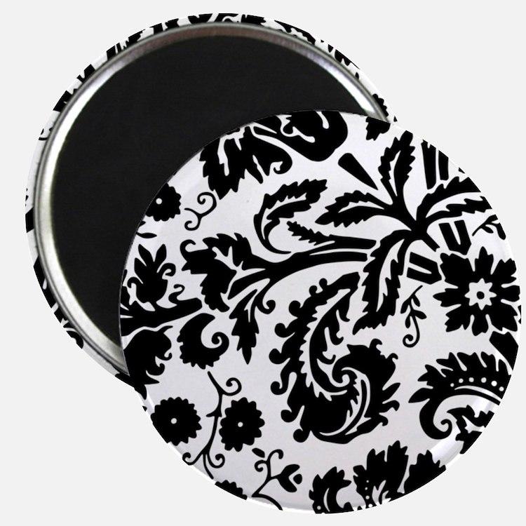 Black damask Magnets