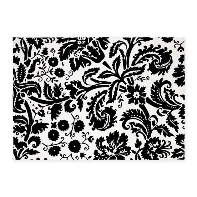 black damask 5 39 x7 39 area rug by admin cp49789583