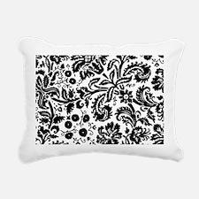 Black damask Rectangular Canvas Pillow