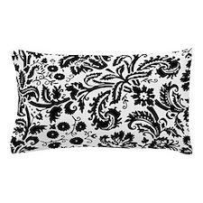 Black damask Pillow Case
