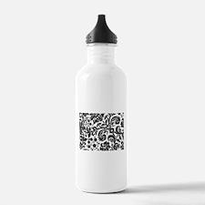 Black damask Sports Water Bottle