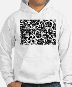 Black damask Jumper Hoody