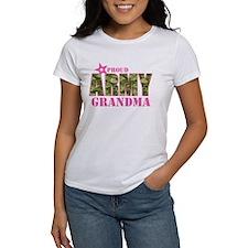 Camo Proud Army Grandma Tee