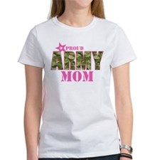 Camo Proud Army Mom Tee