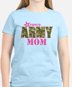 Camo Proud Army Mom T-Shirt