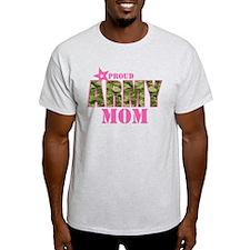 Camo Proud Army Mom T-Shirt