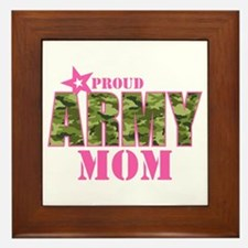Camo Proud Army Mom Framed Tile