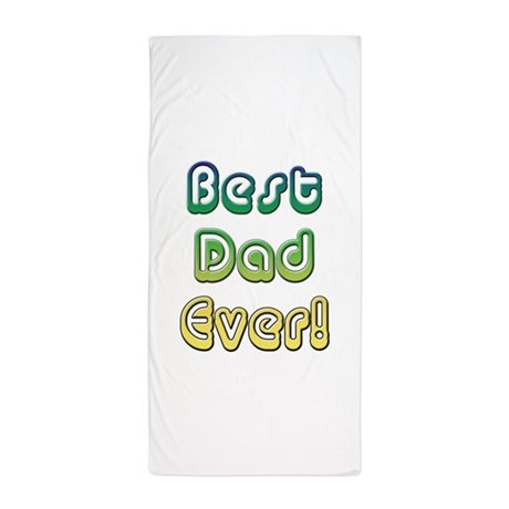 Best Dad Ever, Retro Fathers Day Beach Towel