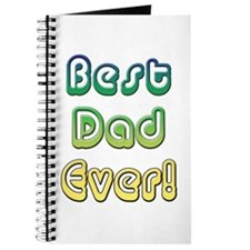 Best Dad Ever, Retro Fathers Day Journal
