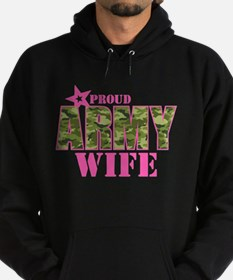 Camo Proud Army Wife Hoodie (dark)