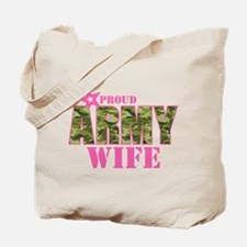Camo Proud Army Wife Tote Bag
