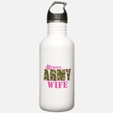Camo Proud Army Wife Water Bottle
