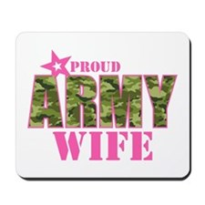 Camo Proud Army Wife Mousepad
