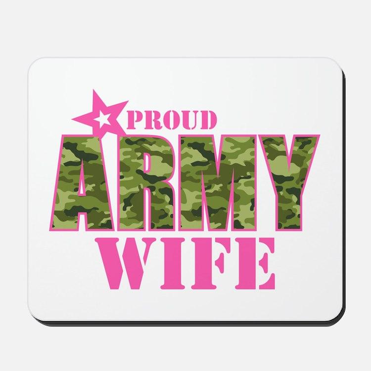 Camo Proud Army Wife Mousepad