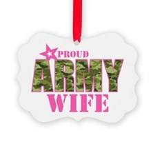 Camo Proud Army Wife Ornament
