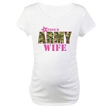 Camo Proud Army Wife Shirt