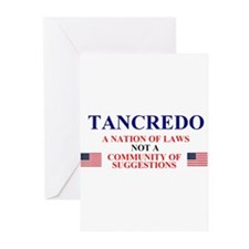 Tancredo, A Nation of Laws Greeting Cards (Package