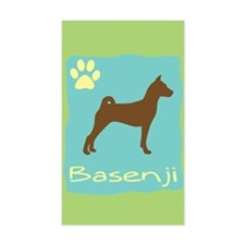 basenji Rectangle Decal