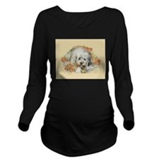 Morkie Long Sleeve Maternity T-Shirt