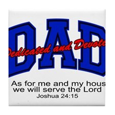 Christian Dad - Fathers Day Tile Coaster