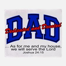 Christian Dad - Fathers Day Throw Blanket