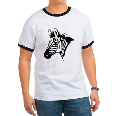 Zebra Head Design Ringer T