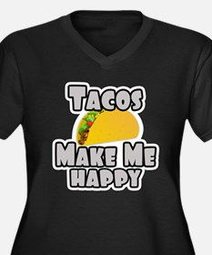 Tacos Make Me Happy Plus Size T-Shirt