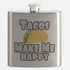 Tacos Make Me Happy Flask