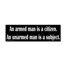 Cute Armed citizen Car Magnet 10 x 3