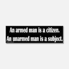 Unique Armed citizen Car Magnet 10 x 3