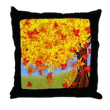 Fall Tree Throw Pillow
