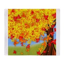 Fall Tree Throw Blanket