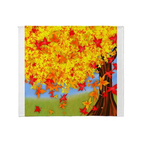 Fall Tree Throw Blanket