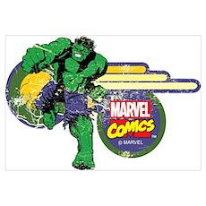 The Hulk Retro Wall Art Poster