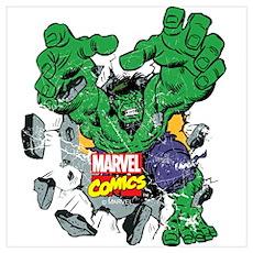 Hulk Burst Wall Art Poster