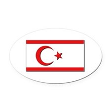 Flags of the Turkish Rep of Northe Oval Car Magnet