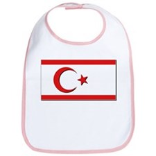 Flags of the Turkish Rep of Northern Cyprus Bib
