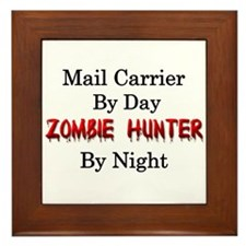 Mail Carrier/Zombie Hunter Framed Tile