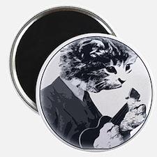 Ukulele Cat Magnet