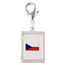 Czech Republic Flag Silver Portrait Charm
